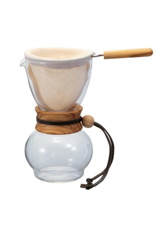 Hario Woodneck Drip Pot Olive Wood