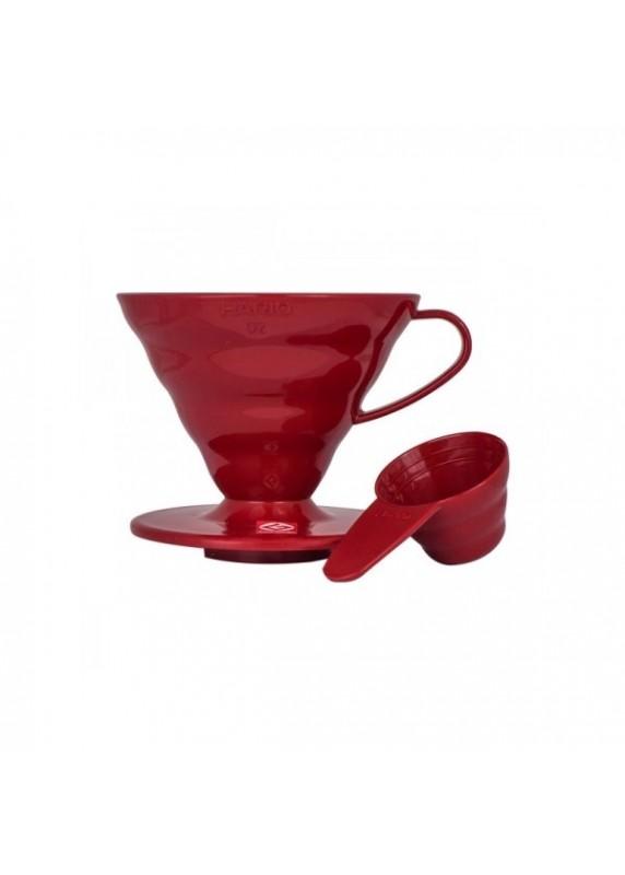 Hario V60 - 02 plastový červený