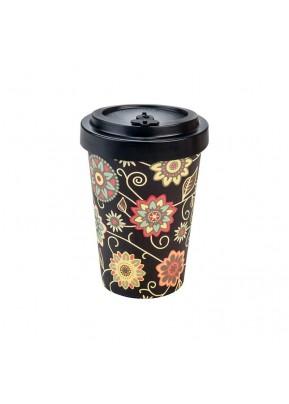 WoodWay Bambusový kelímek na kávu 400 ml Vintage Black