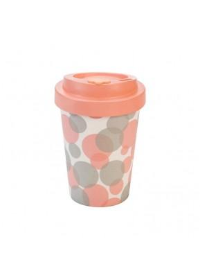 WoodWay Bambusový kelímek na kávu 300 ml Bubbles Pink