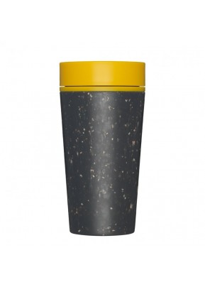 rCUP Kelímek na kávu 340 ml Black and Mustard