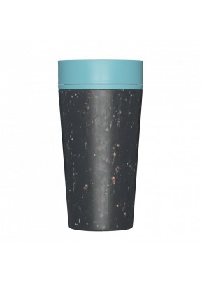 rCUP Kelímek na kávu 340 ml Black and Teal Blue