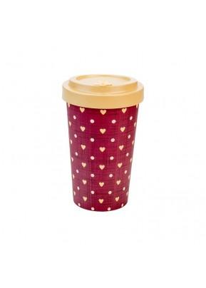 WoodWay Bambusový kelímek na kávu 500 ml Love Beige