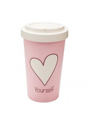 WoodWay Bambusový kelímek na kávu 400 ml Love Yourself